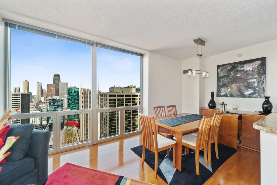 Real Estate Photography - 222 Columbus, 4603, Chicago, IL, 60601 - Dining Room