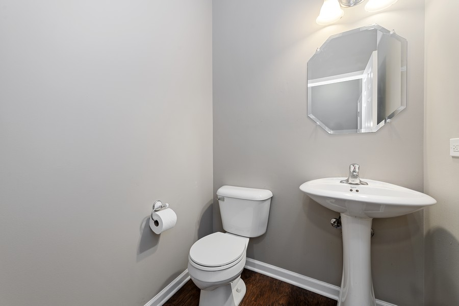 Real Estate Photography - 718 S Jade Ln, Rolling Meadows, IL, 60073 - Powder Room