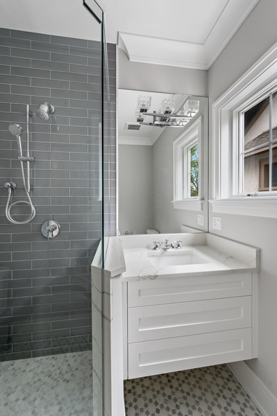 Real Estate Photography - 1119 Forest Ave, Wilmette, IL, 60091 - 3rd Bathroom