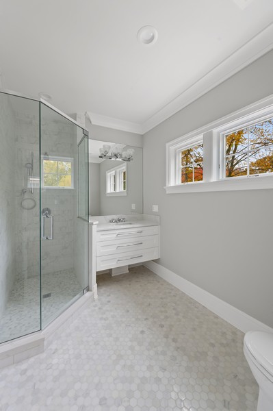 Real Estate Photography - 1119 Forest Ave, Wilmette, IL, 60091 - 4th Bathroom