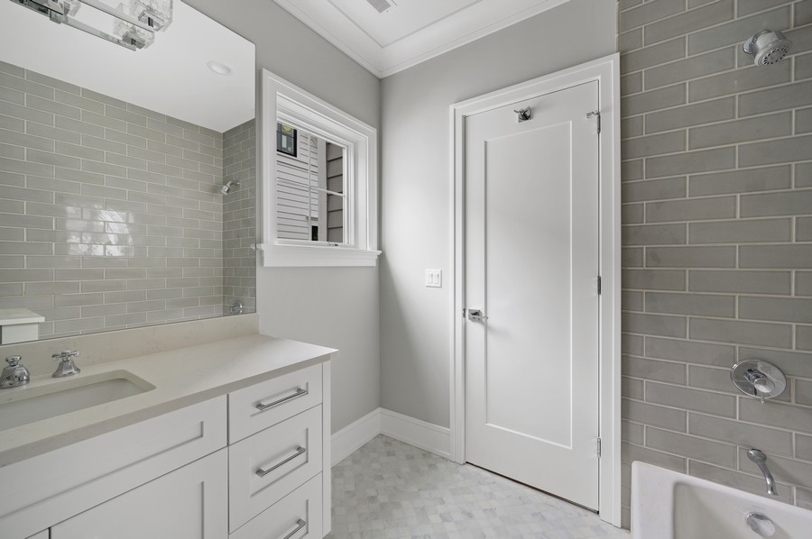 Real Estate Photography - 1119 Forest Ave, Wilmette, IL, 60091 - 5th Bathroom