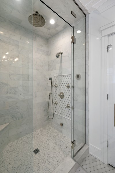 Real Estate Photography - 1119 Forest Ave, Wilmette, IL, 60091 - Master Bathroom