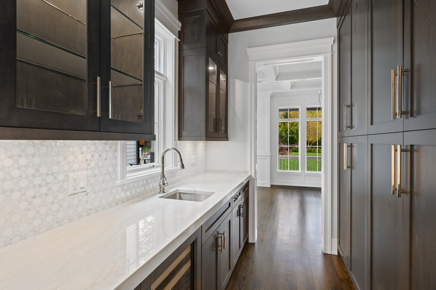 Real Estate Photography - 1119 Forest Ave, Wilmette, IL, 60091 - Butler's pantry