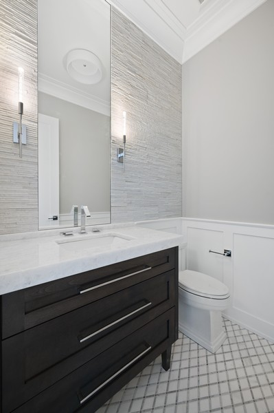Real Estate Photography - 1119 Forest Ave, Wilmette, IL, 60091 - Powder Room