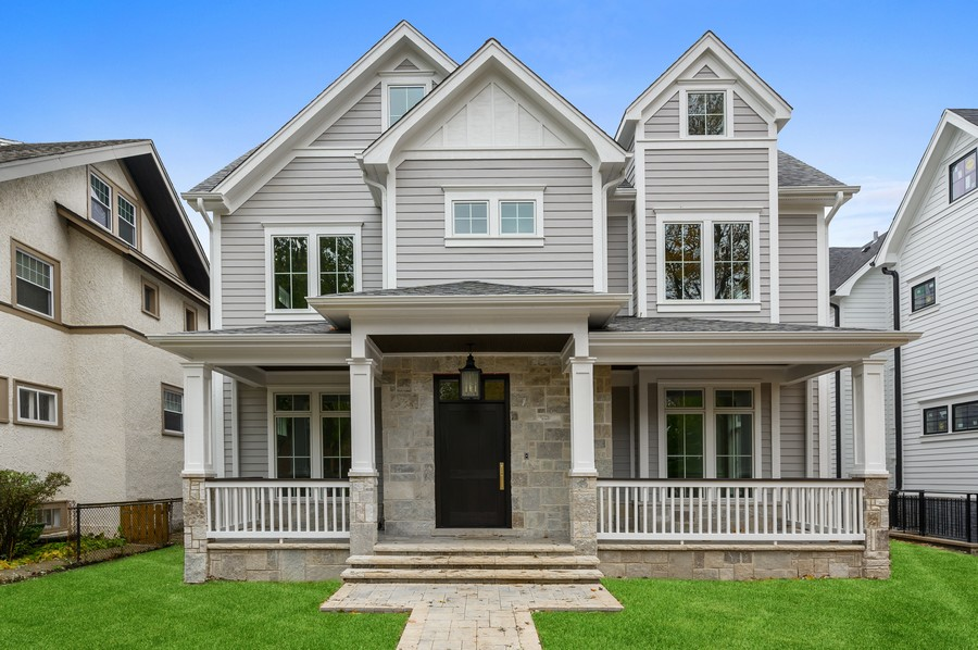 Real Estate Photography - 1119 Forest Ave, Wilmette, IL, 60091 - Front View