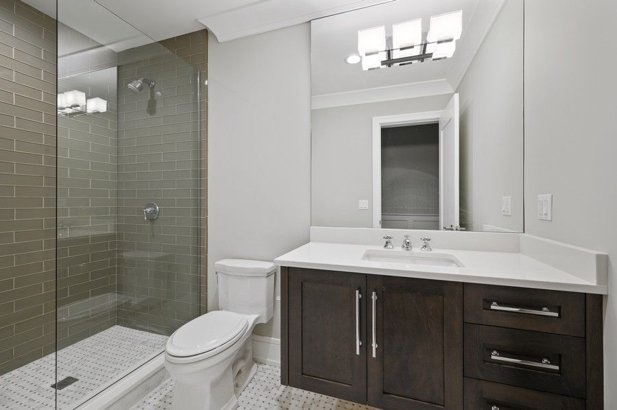 Real Estate Photography - 1119 Forest Ave, Wilmette, IL, 60091 - Bathroom