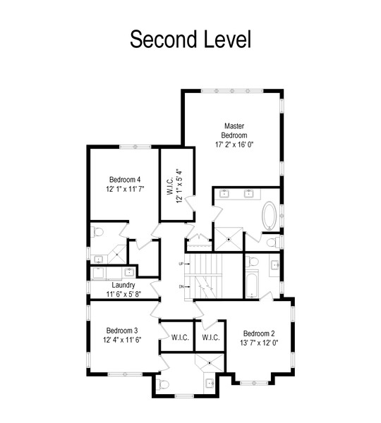 Real Estate Photography - 1119 Forest Ave, Wilmette, IL, 60091 - Floor Plan
