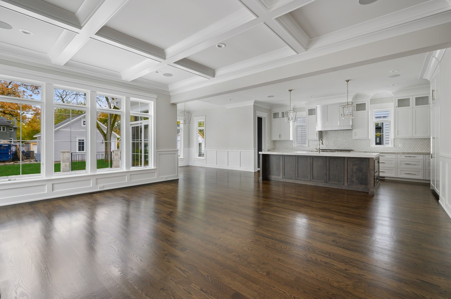 Real Estate Photography - 1119 Forest Ave, Wilmette, IL, 60091 - Family Room / Kitchen