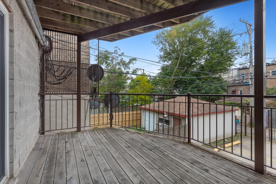 Real Estate Photography - 3552 S Giles, 2S, Chicago, IL, 60653 - Deck