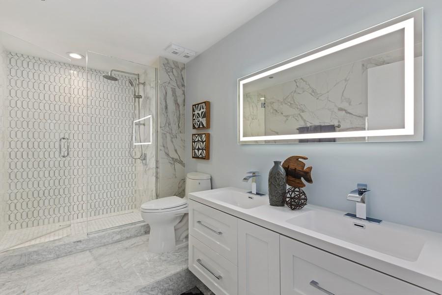 Real Estate Photography - 910 S Michigan Ave, Unit 1612, Chicago, IL, 60605 - Master Bathroom