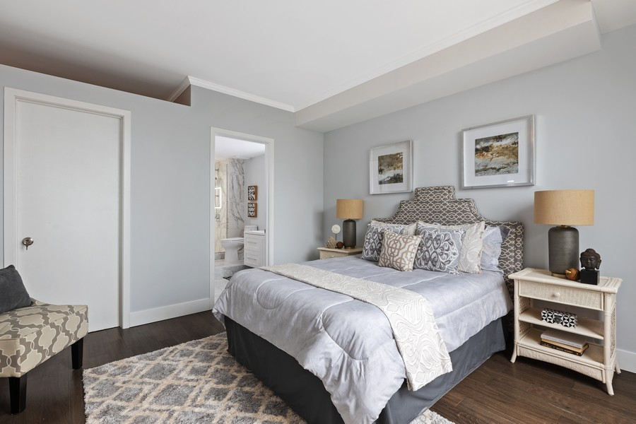 Real Estate Photography - 910 S Michigan Ave, Unit 1612, Chicago, IL, 60605 - Master Bedroom