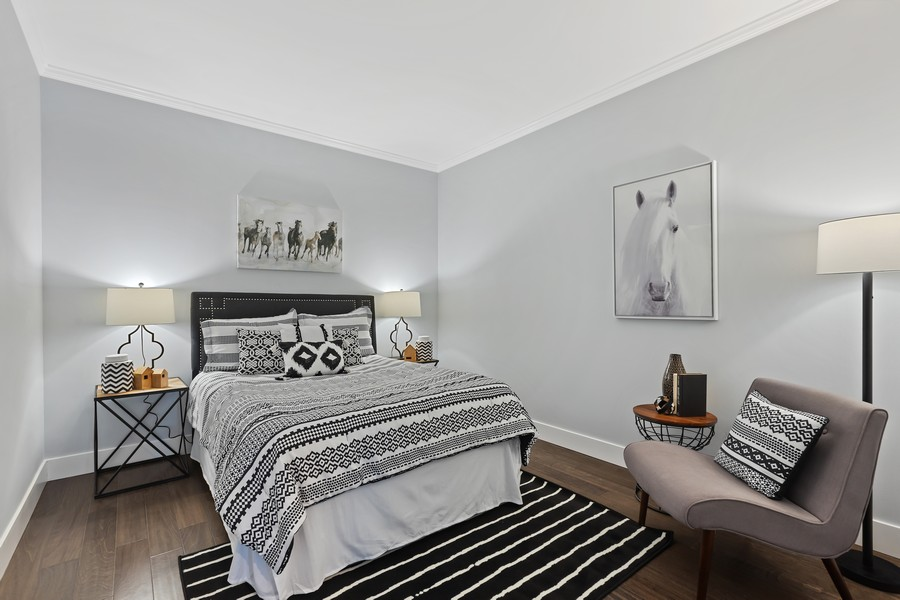 Real Estate Photography - 910 S Michigan Ave, Unit 1612, Chicago, IL, 60605 - Bedroom