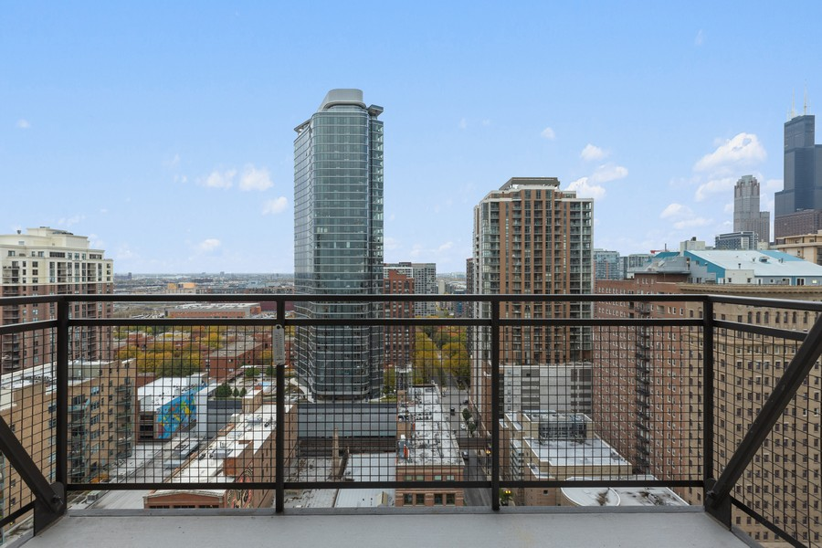 Real Estate Photography - 910 S Michigan Ave, Unit 1612, Chicago, IL, 60605 - Balcony
