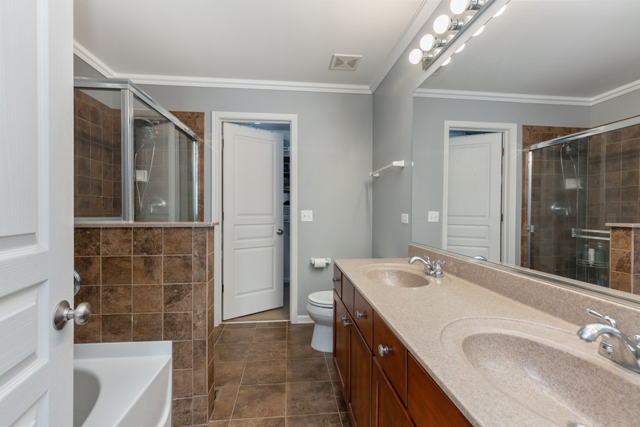 Real Estate Photography - 672 Lancaster Drive, Pingree Grove, IL, 60140 - Master Bathroom