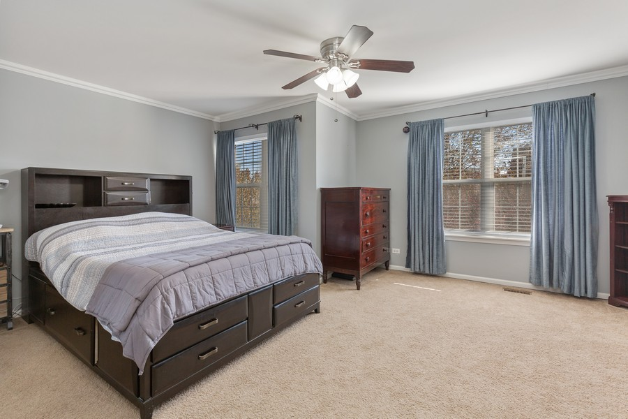 Real Estate Photography - 672 Lancaster Drive, Pingree Grove, IL, 60140 - Master Bedroom