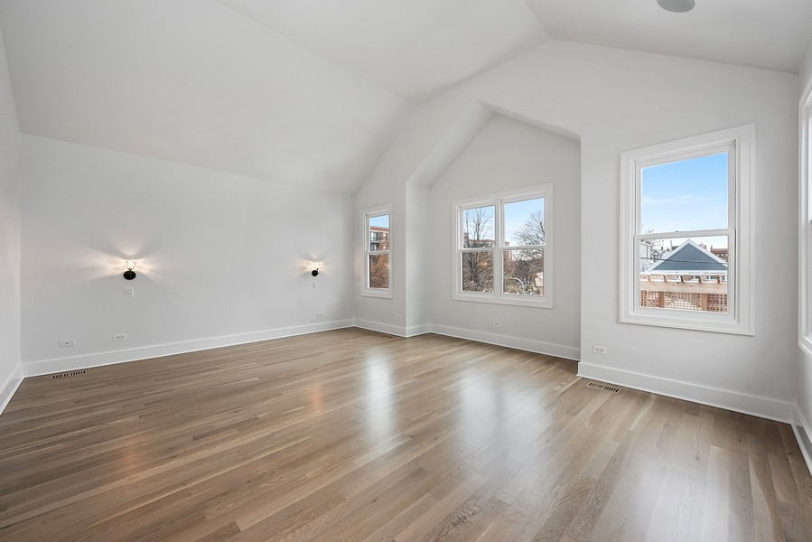 Real Estate Photography - 4100 N Oakley Ave, Chicago, IL, 60618 - Master Bedroom