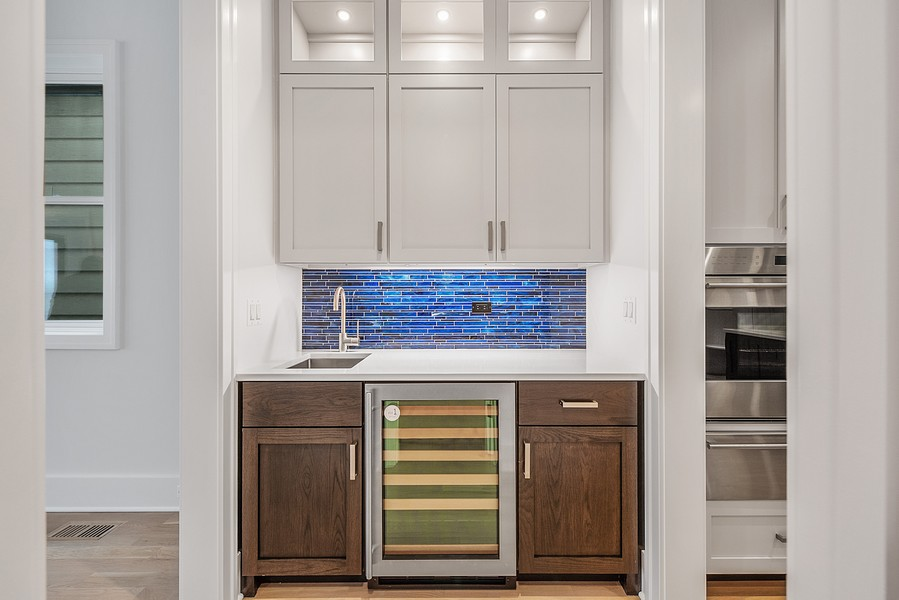 Real Estate Photography - 4100 N Oakley Ave, Chicago, IL, 60618 - Butler's pantry