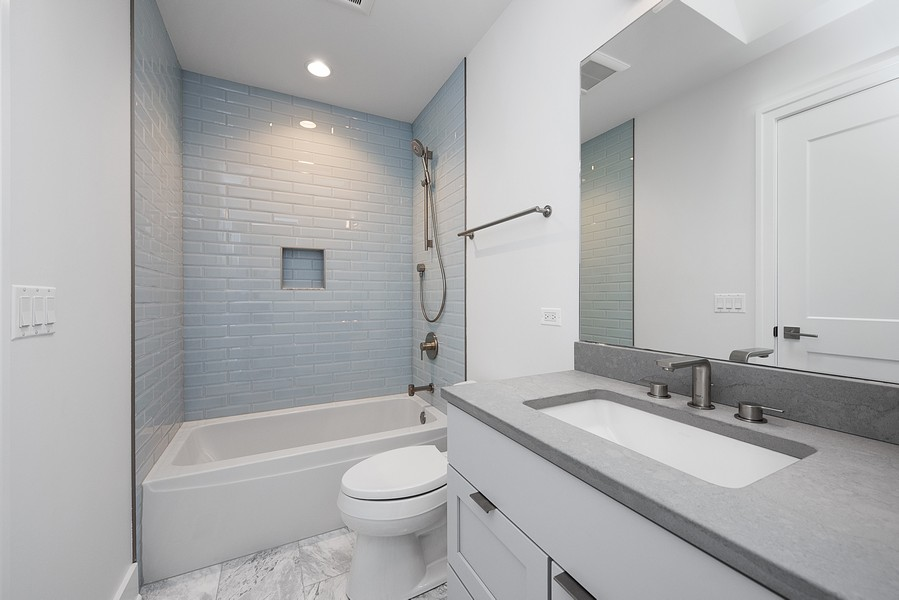 Real Estate Photography - 4100 N Oakley Ave, Chicago, IL, 60618 - 2nd Bathroom