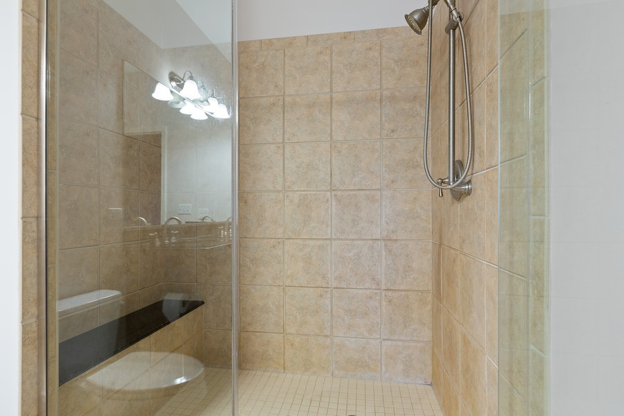 Real Estate Photography - 945 Burlington Ave, Unit 404, Downers Grove, IL, 60515 - Master Bathroom