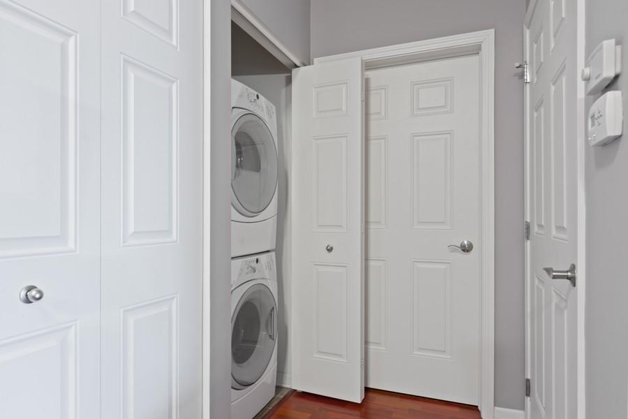 Real Estate Photography - 945 Burlington Ave, Unit 404, Downers Grove, IL, 60515 - Laundry Room