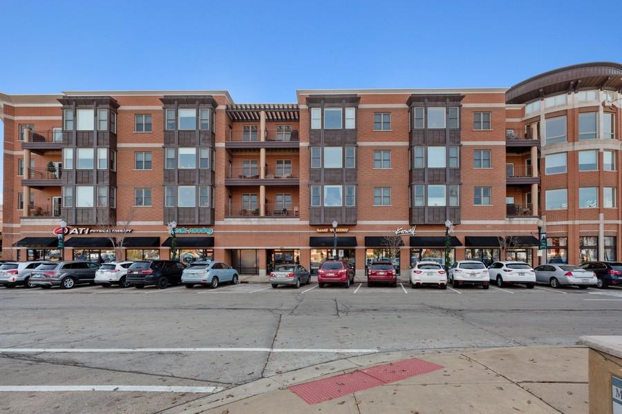 Real Estate Photography - 945 Burlington Ave, Unit 404, Downers Grove, IL, 60515 - Front View
