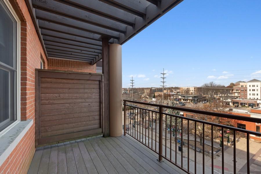 Real Estate Photography - 945 Burlington Ave, Unit 404, Downers Grove, IL, 60515 - Balcony