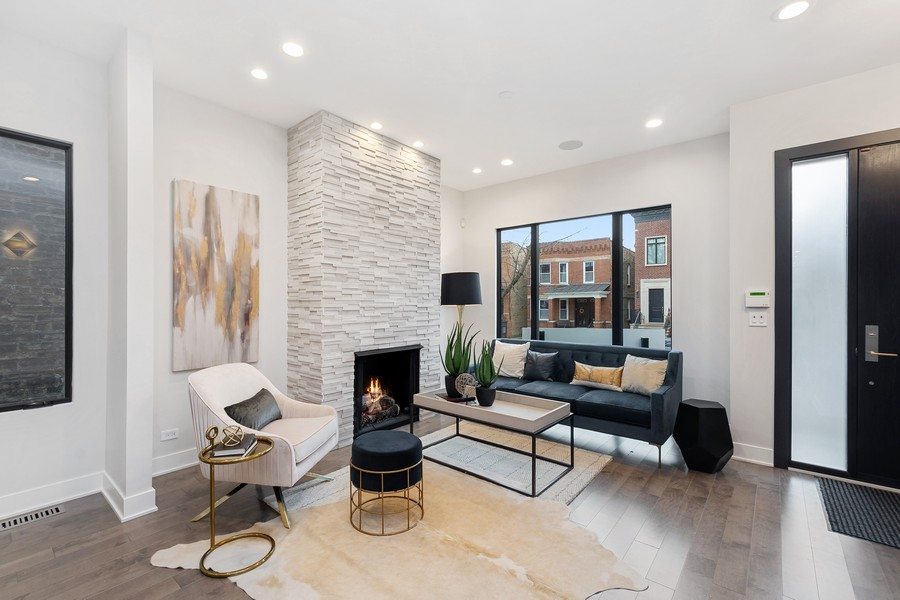 Real Estate Photography - 3623 N Leavitt, Chicago, IL, 60618 - Living Room