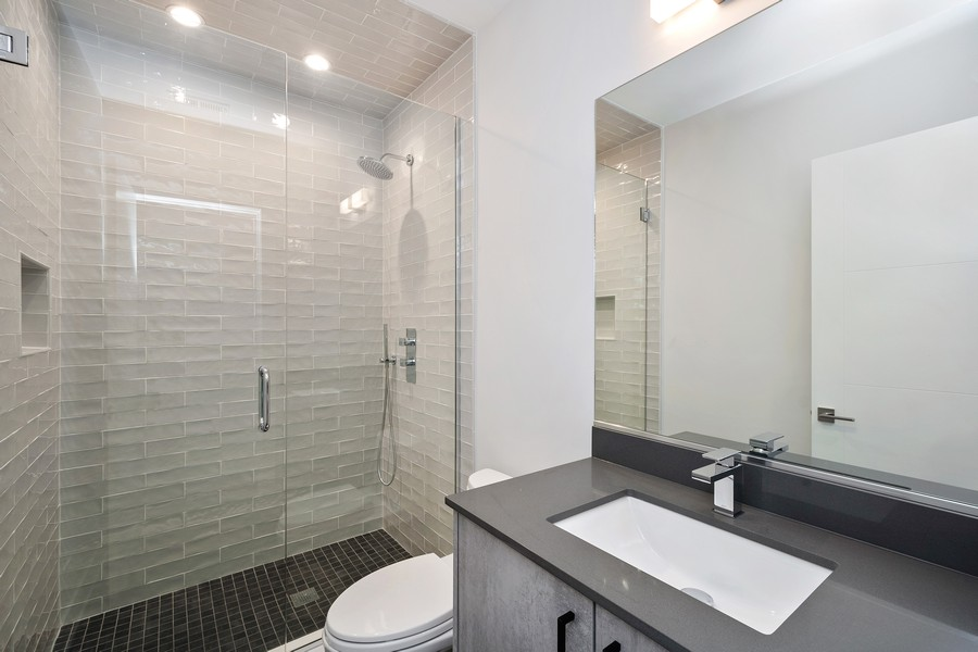 Real Estate Photography - 3623 N Leavitt, Chicago, IL, 60618 - 3rd Bathroom
