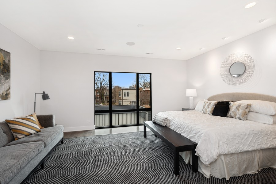 Real Estate Photography - 3623 N Leavitt, Chicago, IL, 60618 - Master Bedroom