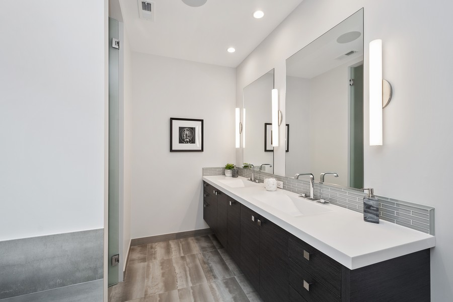Real Estate Photography - 3623 N Leavitt, Chicago, IL, 60618 - Master Bathroom