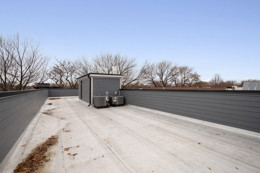Real Estate Photography - 3623 N Leavitt, Chicago, IL, 60618 - Roof Deck