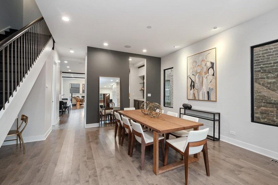 Real Estate Photography - 3623 N Leavitt, Chicago, IL, 60618 - Dining Area