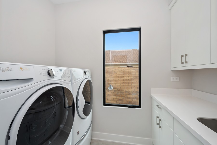 Real Estate Photography - 3623 N Leavitt, Chicago, IL, 60618 - Laundry Room