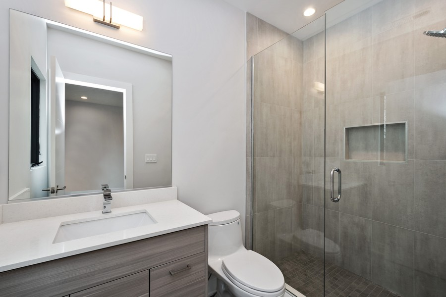 Real Estate Photography - 3623 N Leavitt, Chicago, IL, 60618 - Bathroom