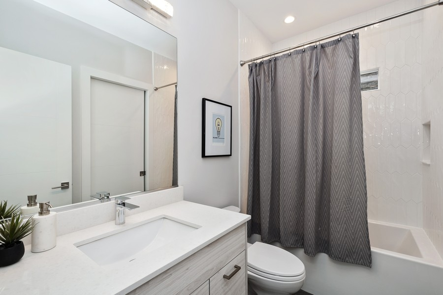 Real Estate Photography - 3623 N Leavitt, Chicago, IL, 60618 - 2nd Bathroom