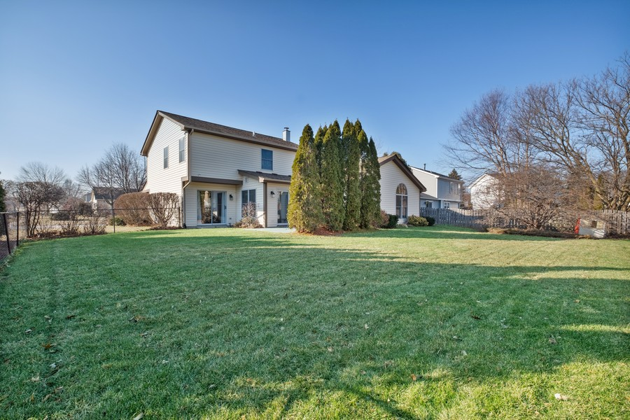 Real Estate Photography - 1201 Lockwood, Buffalo grove, IL, 60089 - Rear View