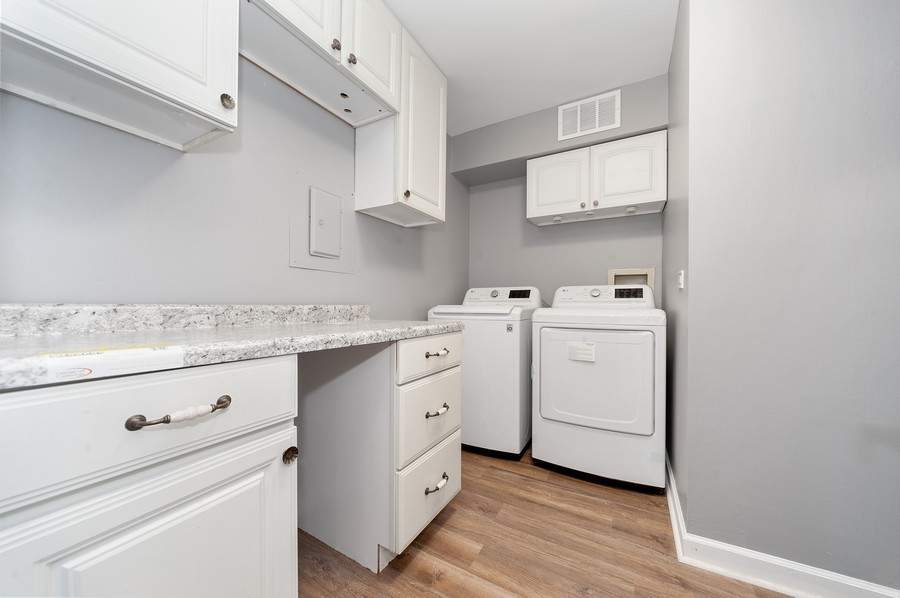 Real Estate Photography - 611 Ironwood Ct, Unit A1, Wheeling, IL, 60090 - Laundry Room