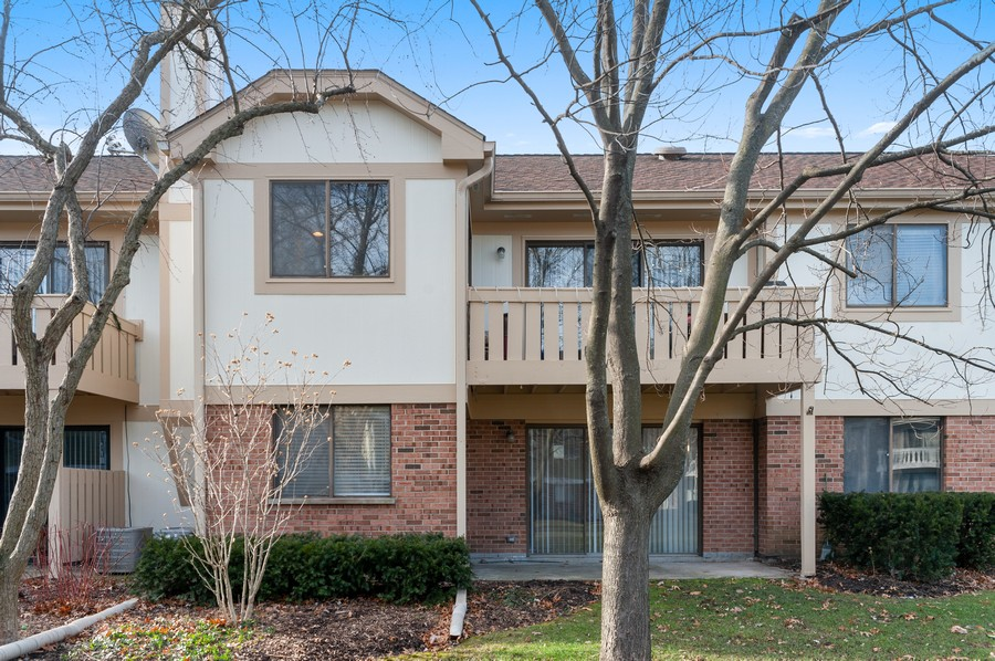 Real Estate Photography - 611 Ironwood Ct, Unit A1, Wheeling, IL, 60090 - Rear View