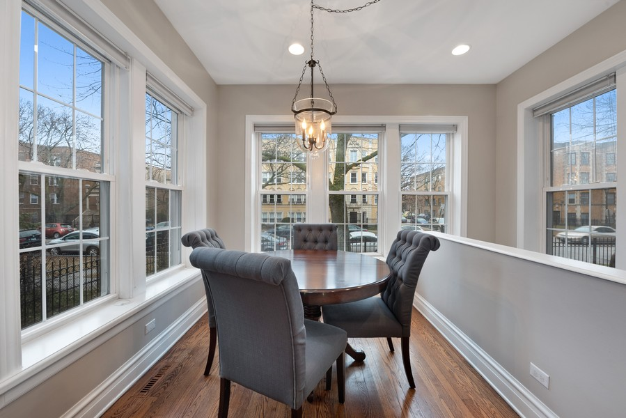 Real Estate Photography - 4902 N Hermitage Ave, Unit 1, Chicago, IL, 60640 - Dining Room