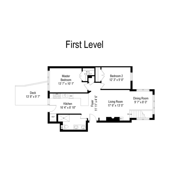 Real Estate Photography - 4902 N Hermitage Ave, Unit 1, Chicago, IL, 60640 - Floor Plan