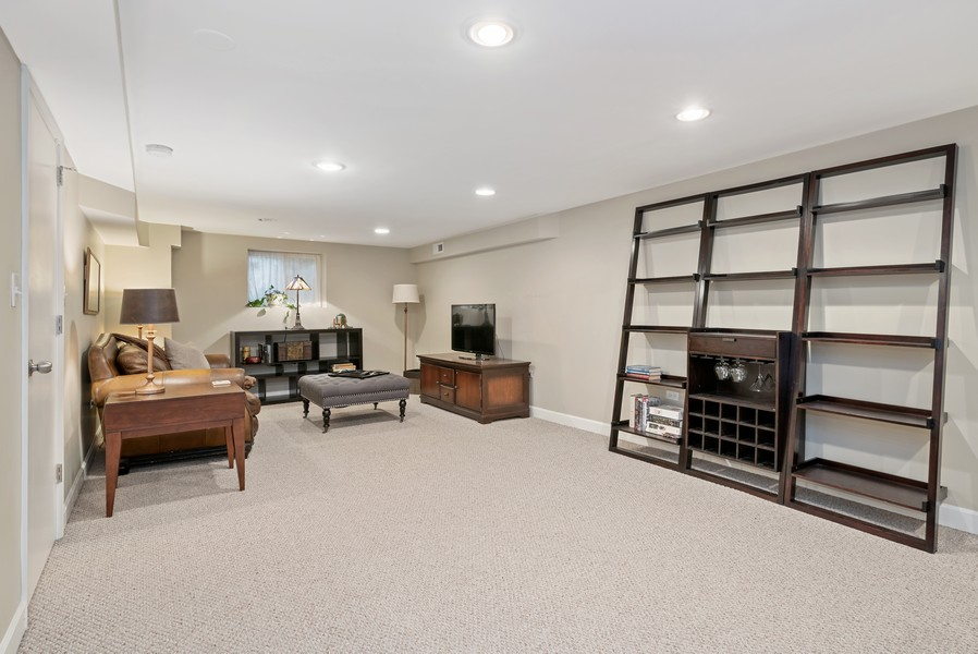 Real Estate Photography - 3655 N Artesian, Chicago, IL, 60618 - Lower Level Family Room/Rec Room
