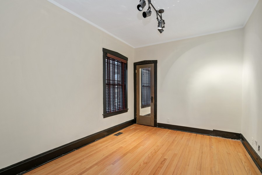Real Estate Photography - 3655 N Artesian, Chicago, IL, 60618 - Main Level 3rd Bedroom with closet