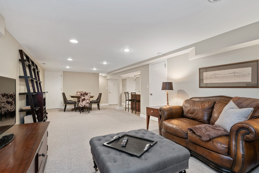 Real Estate Photography - 3655 N Artesian, Chicago, IL, 60618 - Another view of the finished lower level space