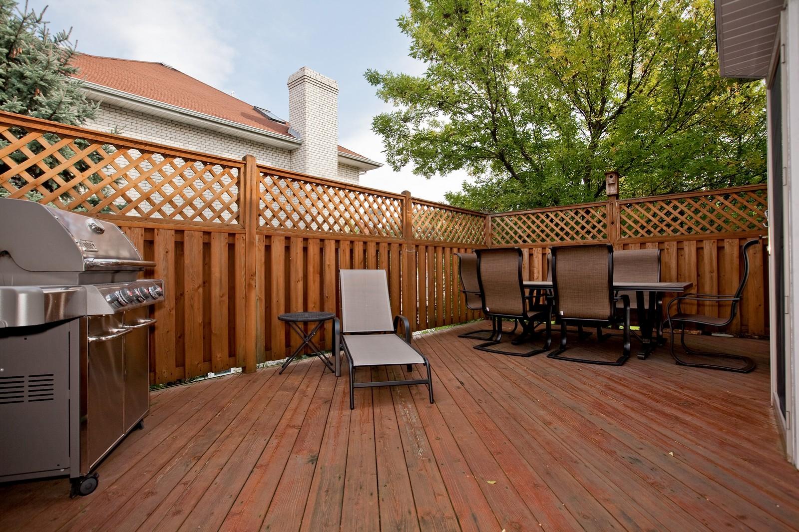 Real Estate Photography - 1031 W. 119th St, Lemont, IL, 60439 - Deck