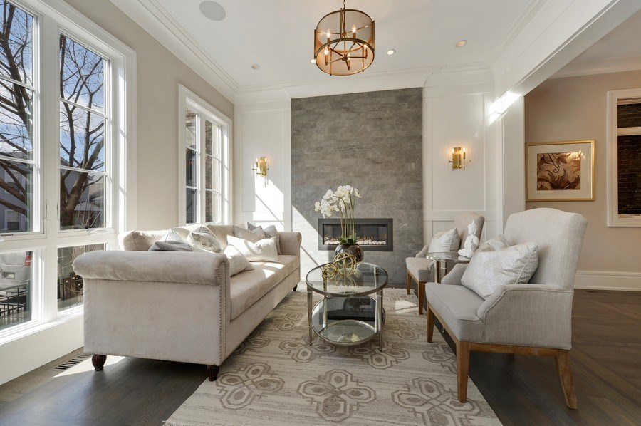 Real Estate Photography - 1823 N Bissell, Chicago, IL, 60614 - Living Room