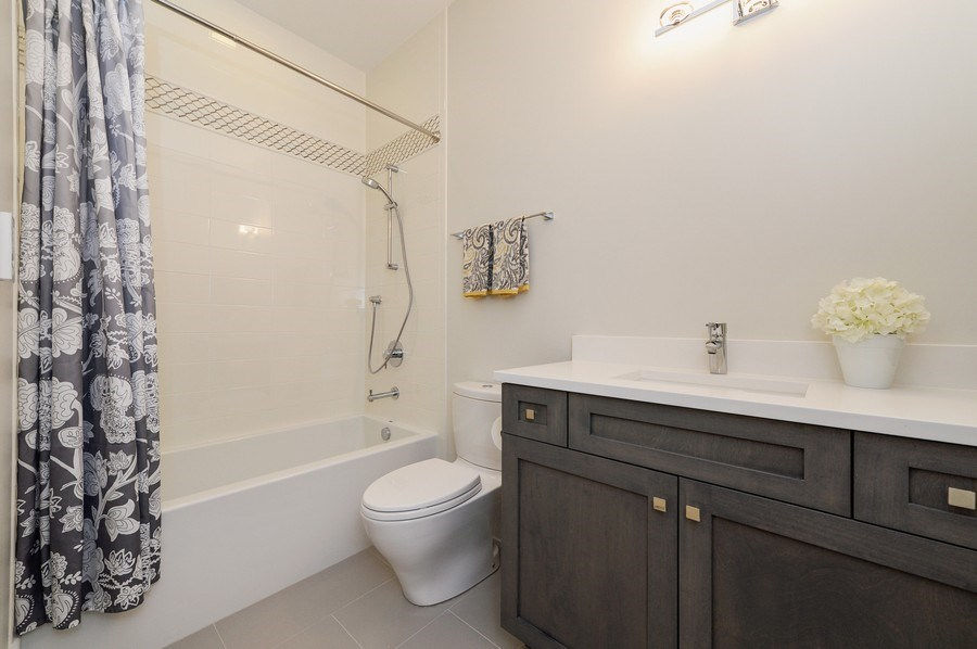 Real Estate Photography - 1823 N Bissell, Chicago, IL, 60614 - 3rd Bathroom