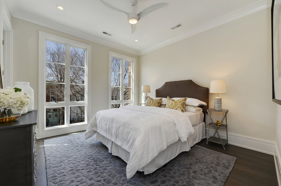 Real Estate Photography - 1823 N Bissell, Chicago, IL, 60614 - 2nd Bedroom