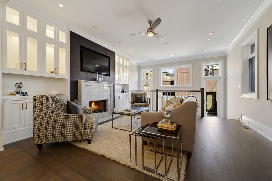 Real Estate Photography - 1823 N Bissell, Chicago, IL, 60614 - Great Room