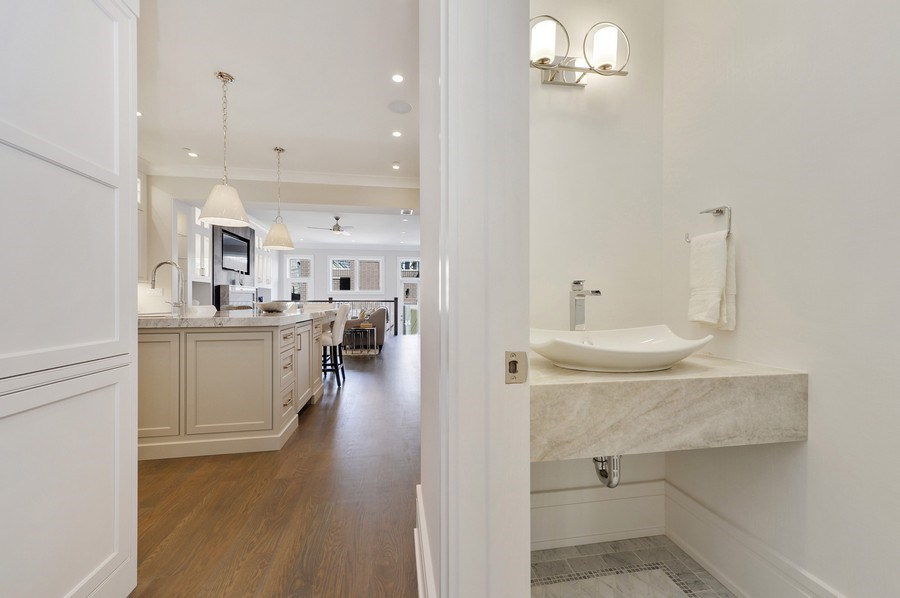 Real Estate Photography - 1823 N Bissell, Chicago, IL, 60614 - Half Bath