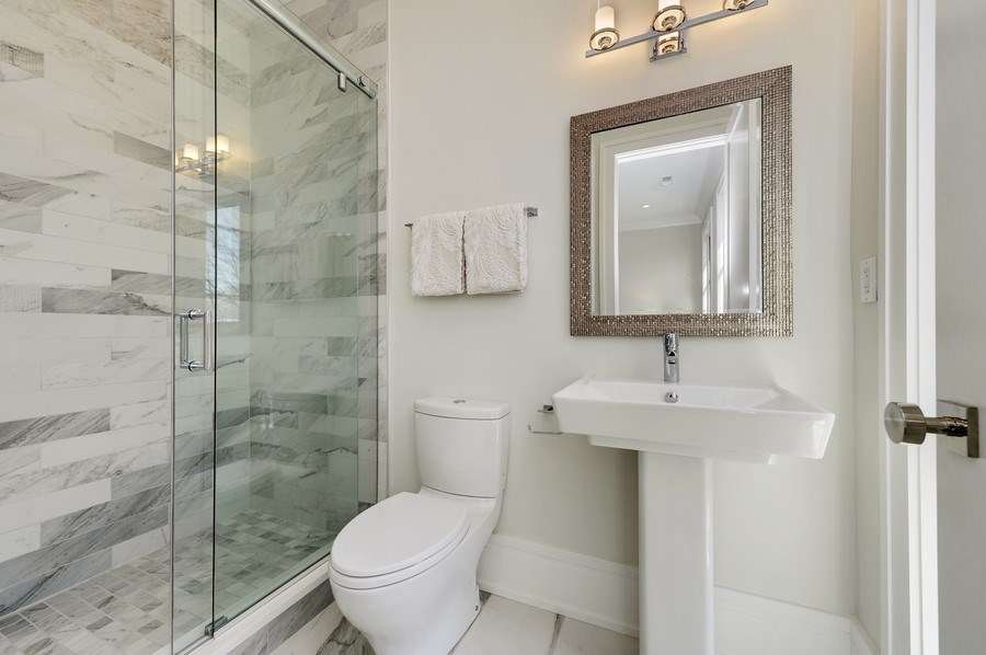 Real Estate Photography - 1823 N Bissell, Chicago, IL, 60614 - 2nd Bathroom
